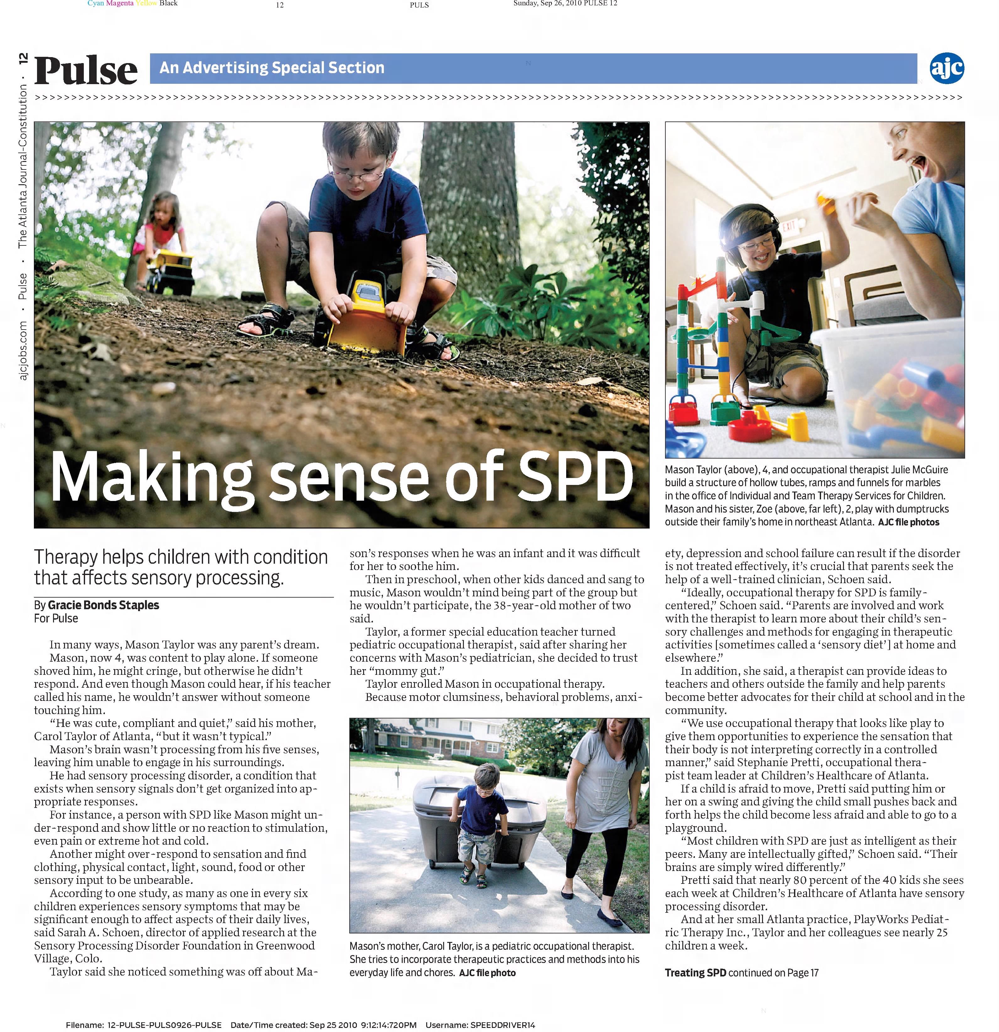 Making sense of SPD